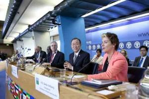 UN Secretary-General Ban Ki-moon with CFS chair Gerda Verburg