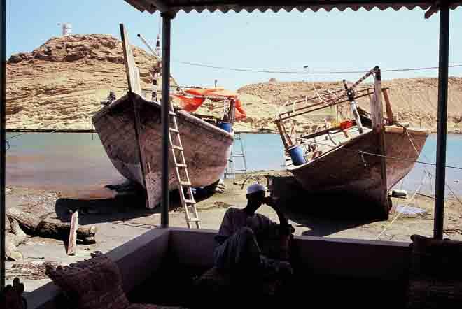 Dhow building yard at Sur